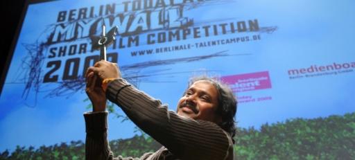 Gewinner des Berlin Today Award 2009, Regisseur Supriyo Sen für seinen Kurzfilm Wagah